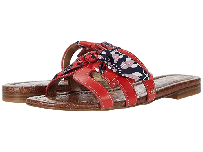 Sam Edelman  Bay 12 (Cherry Se/Cherry Multi Vaquero Saddle Leather/Floral Scarf Print) Womens Shoes