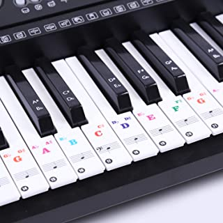 Piano Keyboard Stickers for 88/61/54/49 Key – Colorful Lar