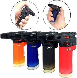 Pack of 4 Eagle Jet Gun Torch Lighter Windproof Refillable Lighter Assorted Color