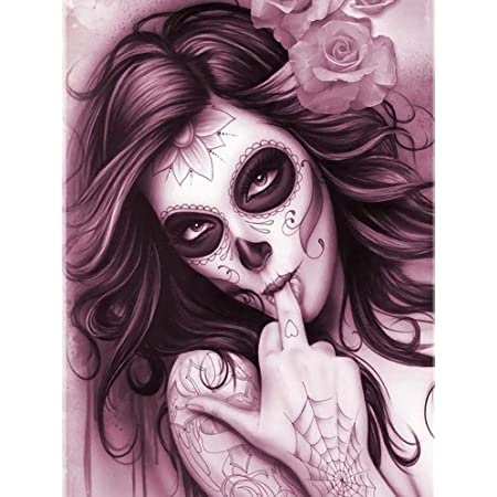 Death Demon 5D DIY Diamond Painting Drill Embroidery Pictures Cross Stitch Arts Craft for Home Wall Decor Full Drill 40X50 cm