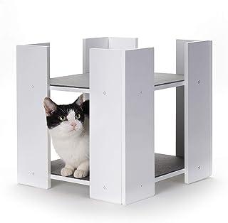 Primetime Petz Hauspanther Cubitat - Multi-Level Cat Bed, White (55135)