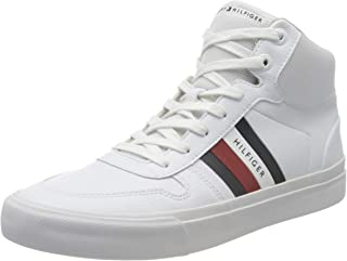 Tommy Hilfiger CORE CORPORATE HIGH MODERN VULC, Men's Shoes, White