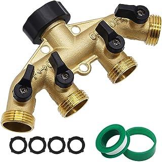 """Twinkle Star 4 Way Heavy Duty Brass Garden Hose Splitter, Hose Connector 3/4"""", Hose.."""