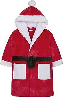Boys & Girls Santa Hooded Christmas Dressing Gown