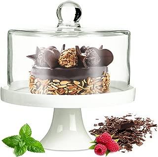 Campana con base para tartas de porcelana Queso Campana