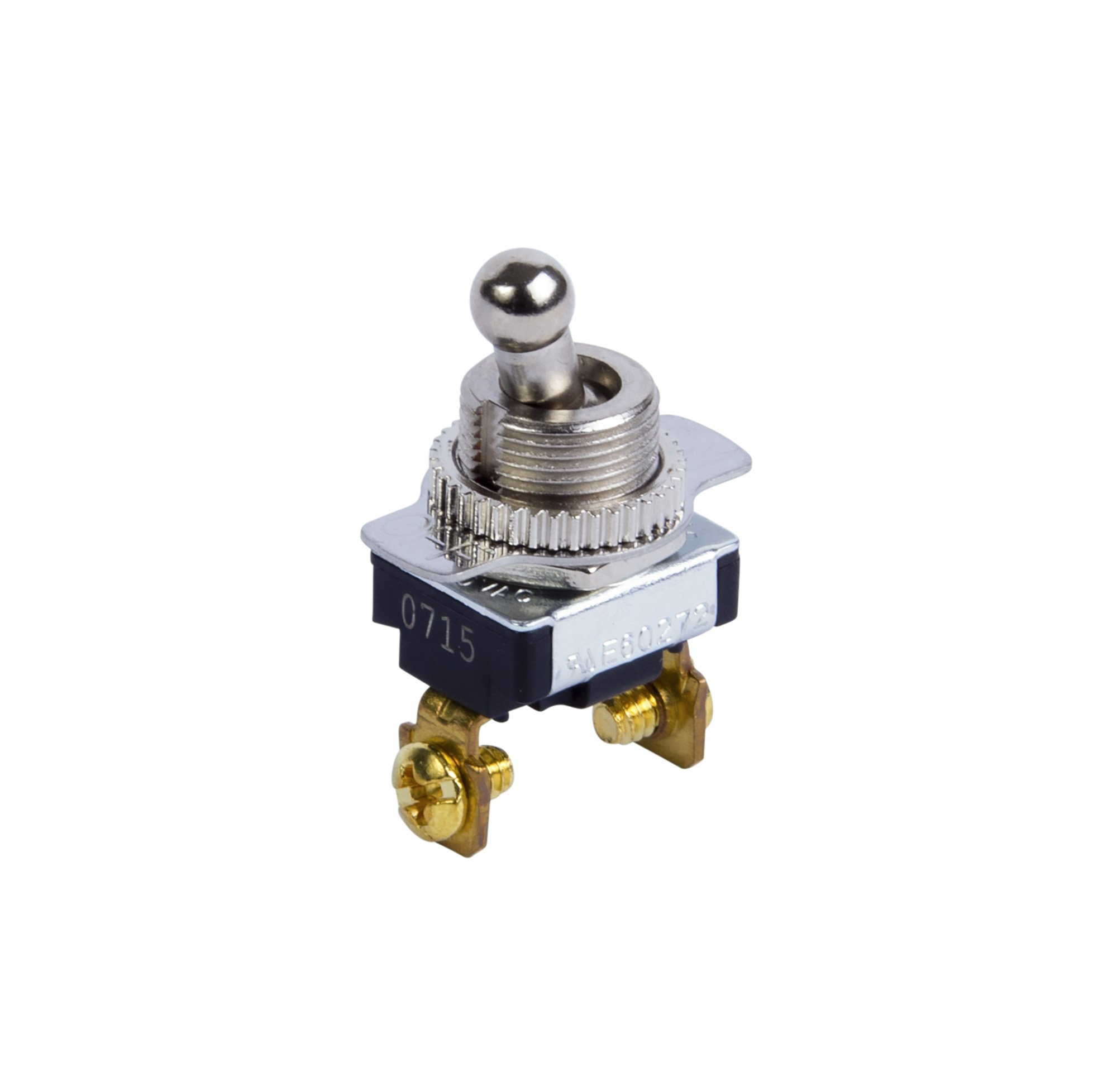 Gardner Bender GSW-124 Electrical Toggle Switch, SPST, ON-OFF, 6 A/120V AC, Screw Terminal