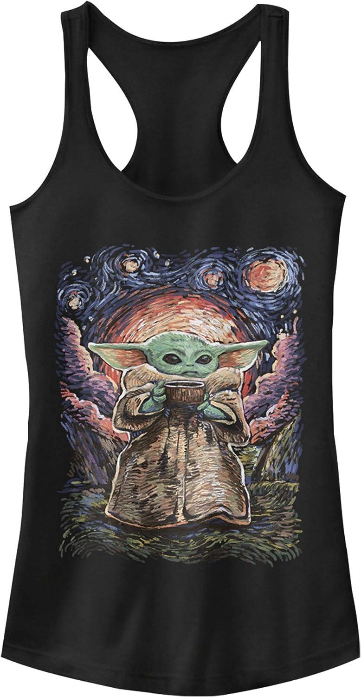 Amazon Com Junior S Star Wars The Mandalorian The Child Starry Night Racerback Tank Top Clothing