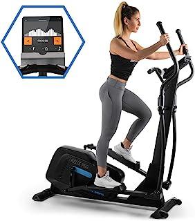 Capital Sports Helix PRO - Ellittica, Cross Trainer, Cardio Fitness, BT, Allenamento Multimediale, 32 Livelli Resistenza M...