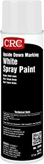 CRC Upside Down Marking Spray Paint, 17 oz Aerosol Can, White