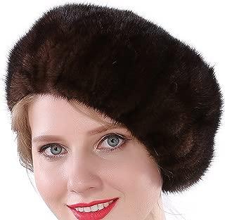 Women Winter Berets Real Mink Tail Fur Hat