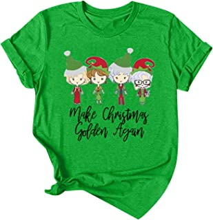 Womens Christmas Pullover Shirts Pattern Print...
