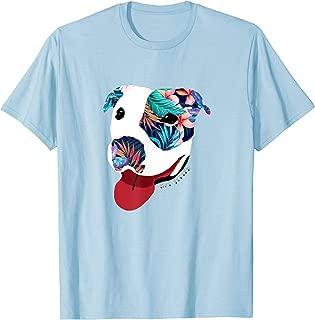 Get Pitted Hawaiian Floral Dog Fun In the Sun T-Shirt