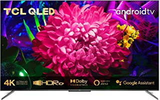 TCL 50C715 Telewizor QLED 127 cm (50 cali) Smart TV (4K Ultra HD, HDR 10+, Dolby Vision Atmos, potrójny tuner, Android TV,...