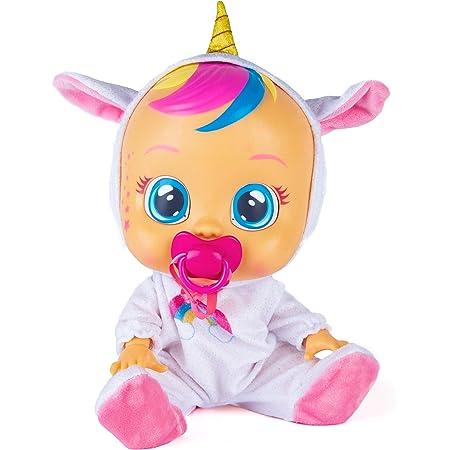 CRY BABIES Fantasy Dreamy l'unicorno - Bambola interattiva che piange lacrime vere con ciuccio e Pigiama, per Bambini e Bambine dai 2 Anni
