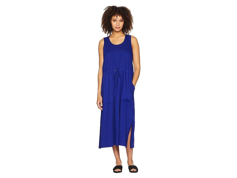 Eileen Fisher Scoop Neck C/L Dress (Blue Violet) Women