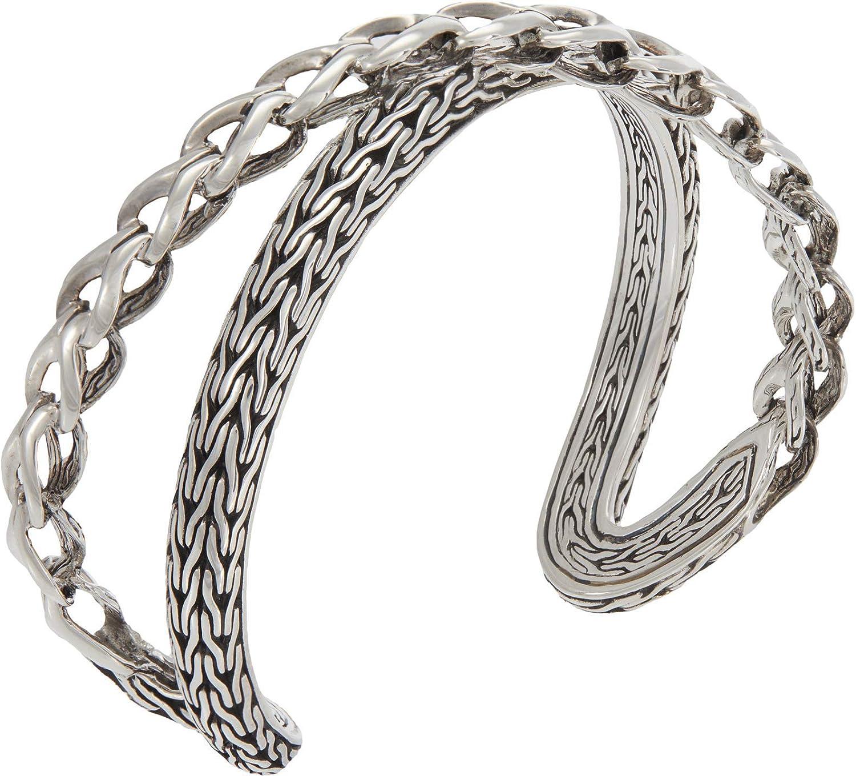 John Hardy 21.5 mm Asli Classic Chain Link Crossover Medium Cuff