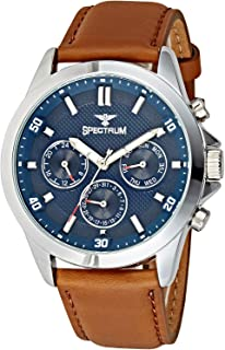 Spectrum Dress Watch For Men Analog Leather - 25156G-5