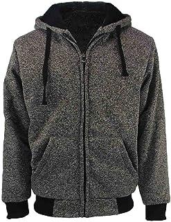 eeaabf0d8 Erin Garments Heavyweight Sherpa Lined Fleece Hoodie Sweatshirts for Men  Winter Full Zip Plus Size Long
