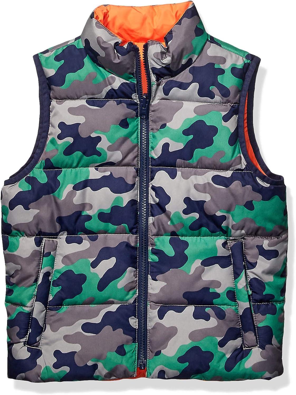 Amazon Brand - Spotted Zebra Boys' Reversible Puffer Vest