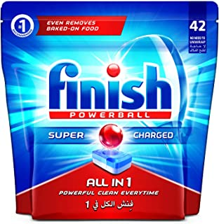 Finish Dishwasher Detergent Tablets, All in One Regular, 42s