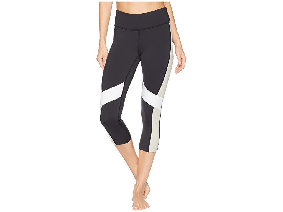 Reebok Lux 3/4 Tights Color Block (Black/Parchment) Women
