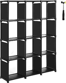 SONGMICS Cubos de Almacenamiento, Librería con 12