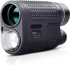 8 x 32 Monocular + Flashlight 2 in 1, BAK4 FMC Green Film Night Vision Monoculars Fit for..