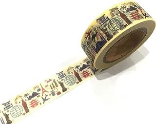Japanese Washi Tape, World Town & Cities -Paris, Australia, NYC, UK, Japan, Egypt 10 METRES