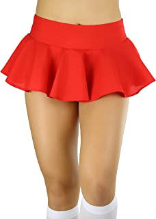 Sponsored Ad - ToBeInStyle Women's Wavy Flirty Colorful Party Micro-Mini Novelty Skirt