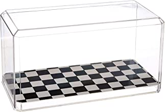 US Flag Store 94CCheckered 1:24 Scale Model Checkered Display Case, Clear, Black, White