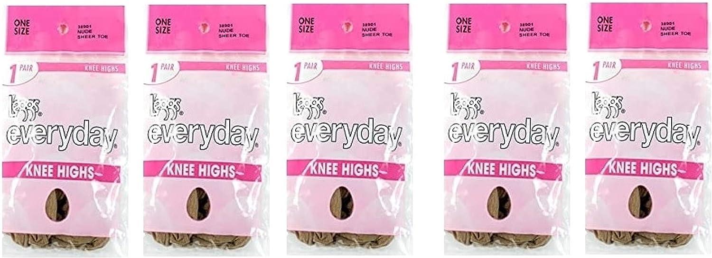 L'eggs Everyday Knee Highs for Women - Sheer Toe for women pack of 5