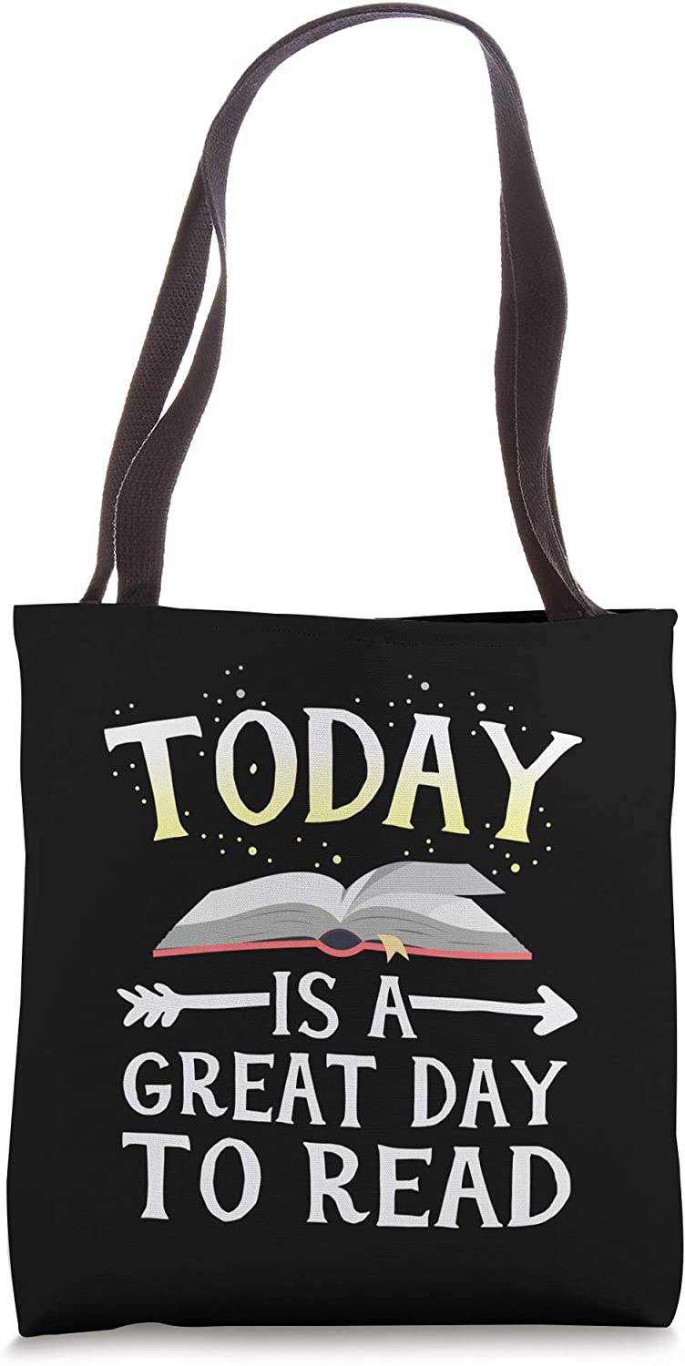 Today Great Day To Read Librarian Book Club Teacher Kids Tote Bag