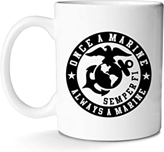 USMC Mug Semper Fi Marine Corps Gifts Idea Cup for Coffee and Tea for Men Women Graduation and Birthday With Prime by Mugish 11oz