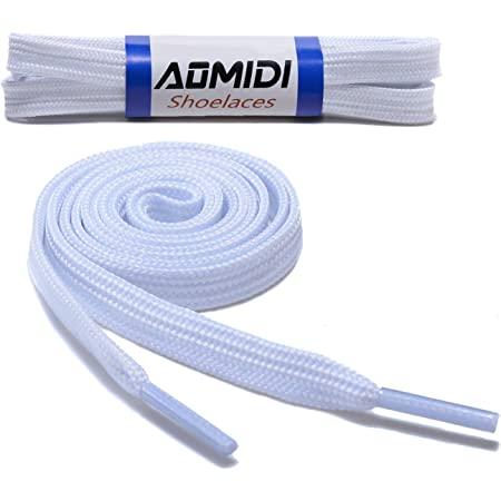 Flat Shoelaces Wide Shoes Lace (2 Pairs) - Wide Shoelaces - Flat Shoe Laces for Sneakers and Shoes