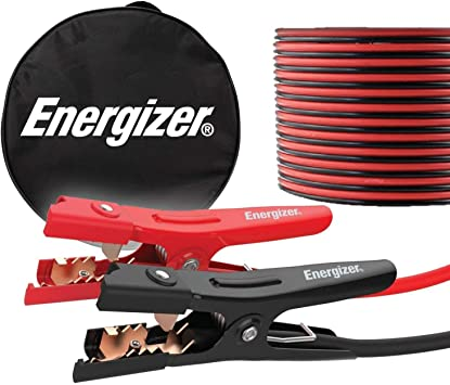 Energizer Jumper Cables for Car Battery, Heavy Duty Automotive Booster Cables for Jump Starting Dead or Weak Batteries with Carrying Bag Included (16-Feet (4-Gauge): image