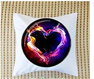 Glowing Pendant Burning Heart, Pendant Glow in The Pillow Bolster,Bible Quote Pillow Bolster - Christian Insect Art Pillow Bolster,Keychain,Pillow Bolster Customized Gift,Everyday Gift Pillow Bolster