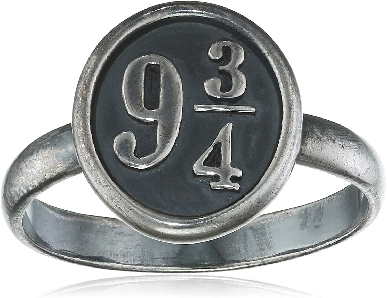 The Carat Shop Official Harry Potter Sterling Silver Platform 9 3 4 Ring Size Large
