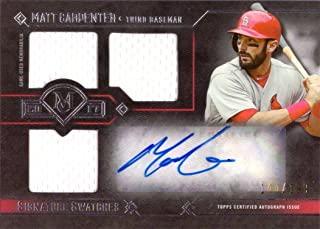 2017 Topps Museum Collection Signature Swatches Triple Relics #TRA-MC Matt Carpenter Certified Autograph Game Worn Jersey Baseball Card - Only 199 made!