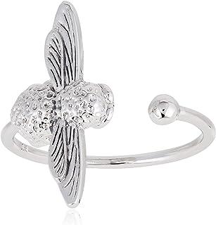 Olivia Burton Women Ring Silver OBJ16AMR03 3D Bee Adjustable