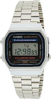 Casio Unisex Black Digital Dial Stainless Steel Band Watch [A168WA-1UWD]