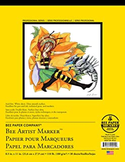 Bee Paper Company 926T30-8511 Bleedproof Marker Pad, 8-1/2-Inch by 11-Inch