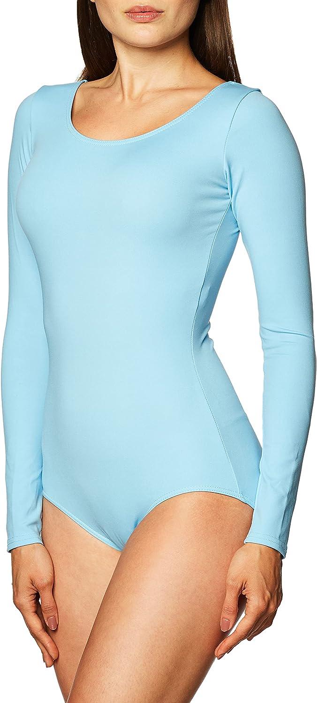 Capezio Genuine Free Shipping Women's Long Sleeve Quantity limited X-Large Blue Leotard Light