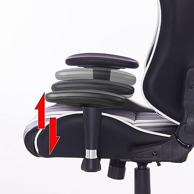 Woltu Racing Silla, Gaming Silla de Escritorio Silla Oficina Silla de Ordenador Silla giratoria de