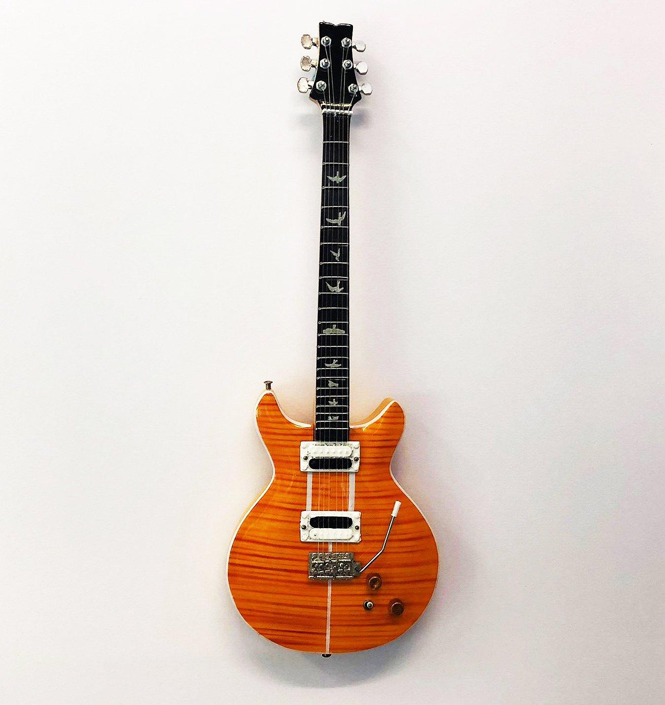 Axman Carlos Santana Guitarra – réplica de madera miniatura y ...