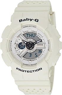 Casio Womens Quartz Watch, Analog-Digital Display and Rubber Strap BA110PP-7ACR