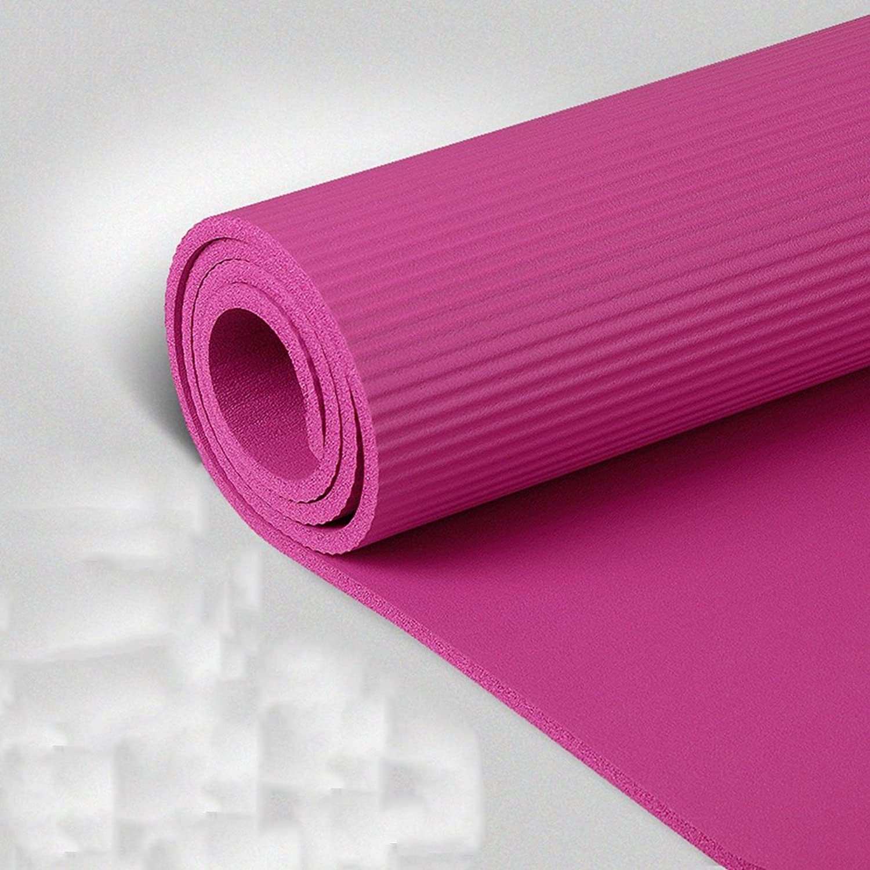 Yxsd Professionelle Yogamatte rutschfeste verlngerte Yogamatte   15 Mm Weiche geschmacklose Yogamatte übungsfitnessmatte liegende Matte (Farbe   C)