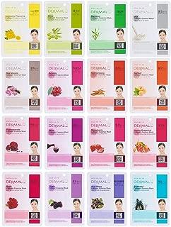 Dermal Korea Collagen Essence Full Face Facial Mask Sheet 16 Combo B Pack