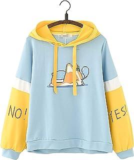 Niña Linda Multicolor Animal Corgi Dibujos Animados Impresión Mangas largas Pastel Camisa de Entrenamiento Kawaii Capucha ...
