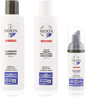 Nioxin System 6 Trial Kit for Chemically Treated Hair with Progressed Thinning, 150ml+150ml+50ml