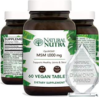 Natural Nutra OptiMSM with Methylsulfonylmethane, Pure MSM Supplement with Sulfur, Prevent Thinning Hair, S...